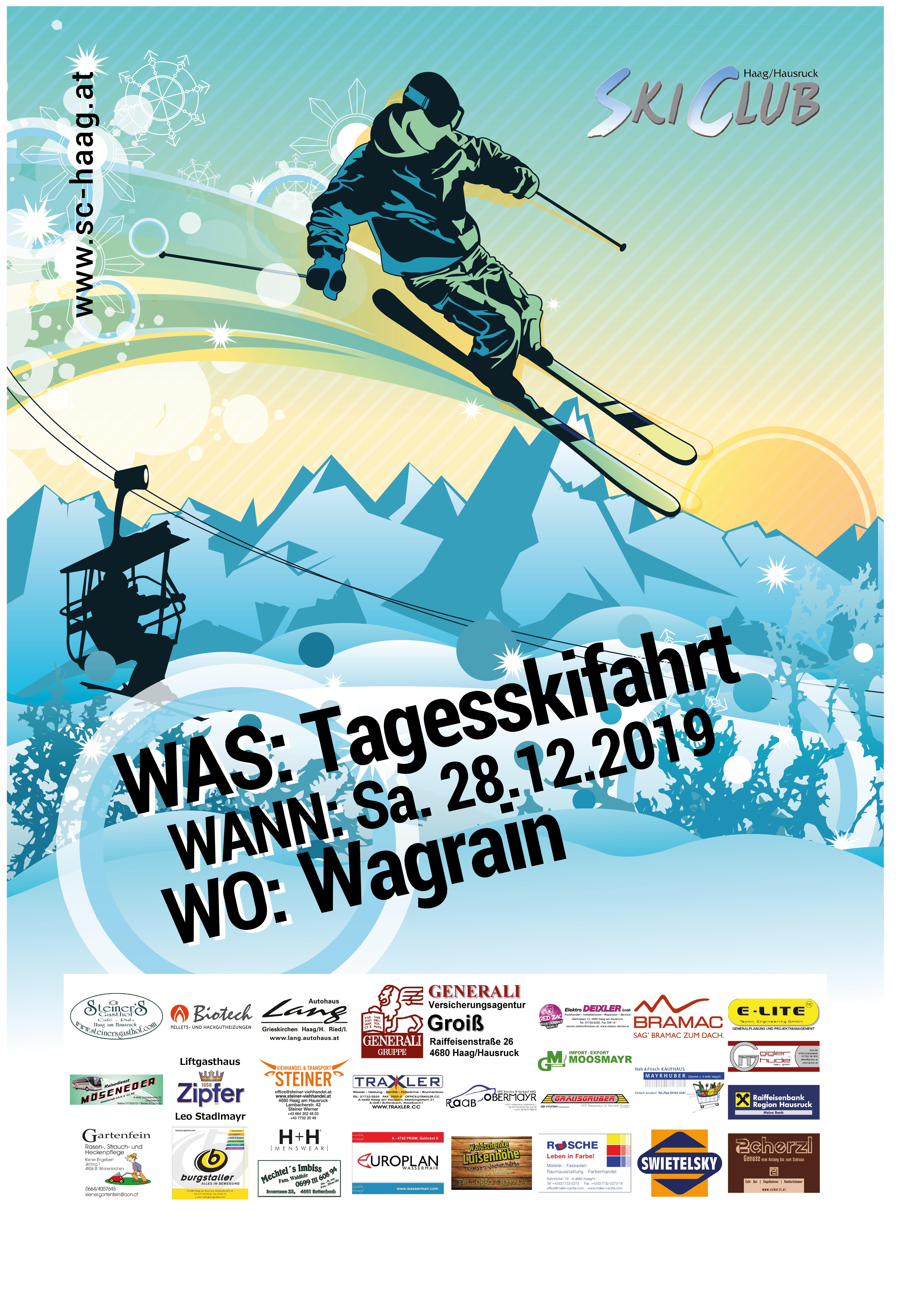 Skifahrt Wagrain 2019
