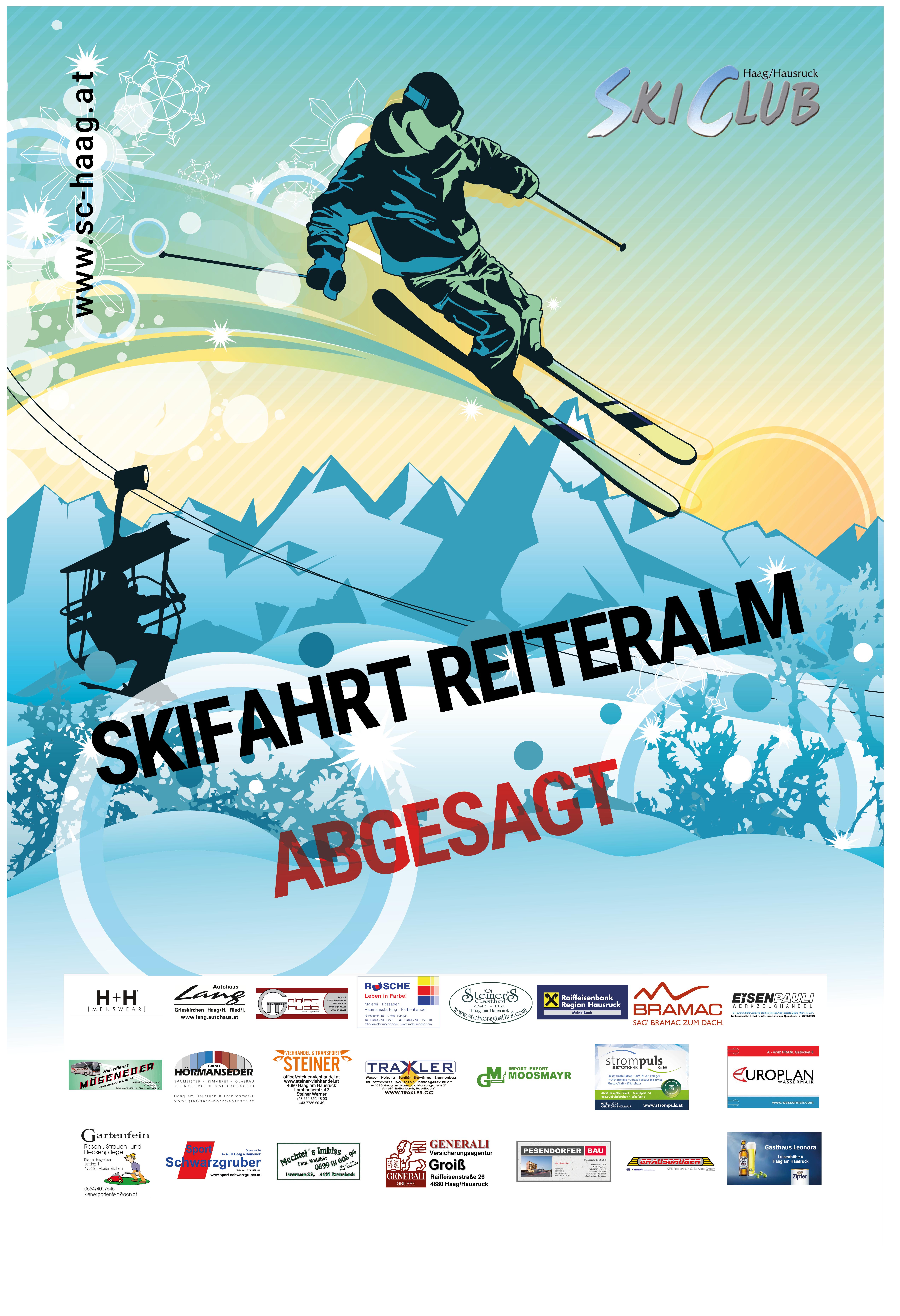 Skifahrt Reiteralm Absage